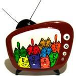 Брошь TV Cats