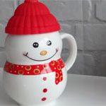 Сувенирная чашка Снеговик