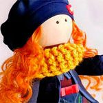 Кукла текстильная Рыжуля