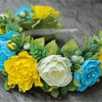 Ободок Цветы Украины
