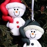Сувенир подвеска Снеговик