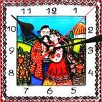 Часы витражные Пара
