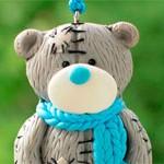 Мишка из глины Тедди