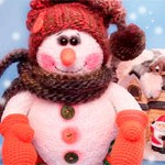 Снеговик игрушка + Ёлочка