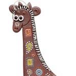 Подвеска жираф керамика