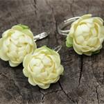 Серьги и кольцо Хризантемы
