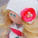 Кукла текстильная Цветочек