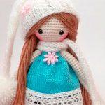Вязаная кукла Милашка