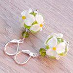 Серьги цветы Ромашки