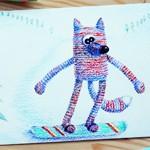 Новогодняя открытка Скейт
