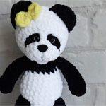 Панда игрушка плюшевая