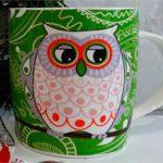 Новогодняя чашка Green Owl