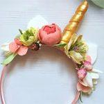 Обруч цветы Единорожек