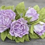 Ободок Фиолетовые розы