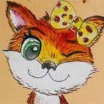Женская открытка Foxy