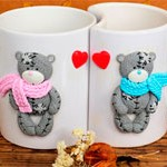 Чашки-сердце Мишки Teddy