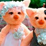 Игрушки котики Свадебные
