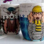 Чашки с изображением собак — неотъемлемые новогодние сувениры в год собаки 2018