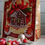 Пакет новогодний Домик