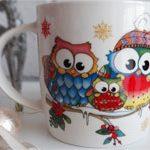 Чашка сова Happy