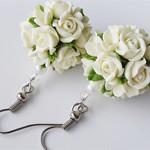 Серьги цветы Roses