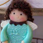 Куколка из глины Girl