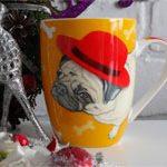 Чашка собака Мопс