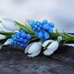 Заколка Весенние цветы