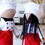 Куклы текстильные Повара
