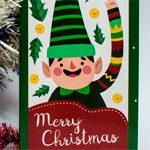 Новогодняя открытка Эльф