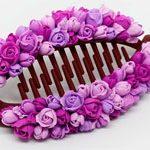 Заколка банан Purple Roses