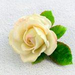 Заколка зажим цветок Роза