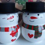 Большие чашки Снеговики