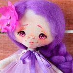 Мини куколка Фиалка