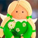 Куколка из глины Ромашка
