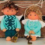 Куклы подвески Валентинки