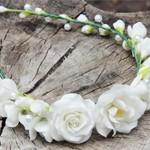 Ободок с цветами White