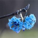 Серьги Волошки цветы