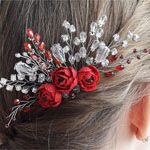Гребень с цветами Red