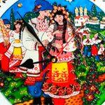 Часы витраж Українці