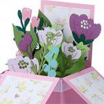 Открытка коробочка Flowers