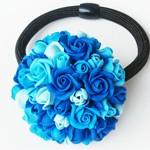 Резинка для волос Blue Roses