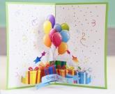 3d открытка из шариков