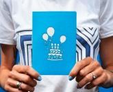 3d открытка с шариками