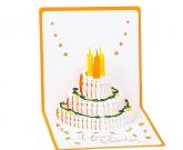 3d открытка Торт