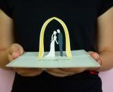 3d свадебная открытка