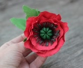 Брошка цветок Мак