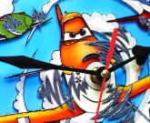 Часы витражные Самолеты