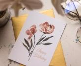 Цветы открытка Birthday