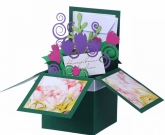 Коробочка цветы Тюльпаны